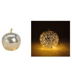 Μήλο Γυάλινο Φωτιζόμενο 29987