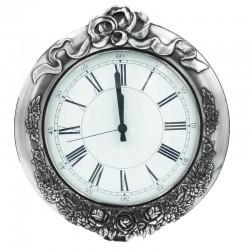 Ρολόι Τοίχου Μπρούτζινο Επάργυρο 1187E
