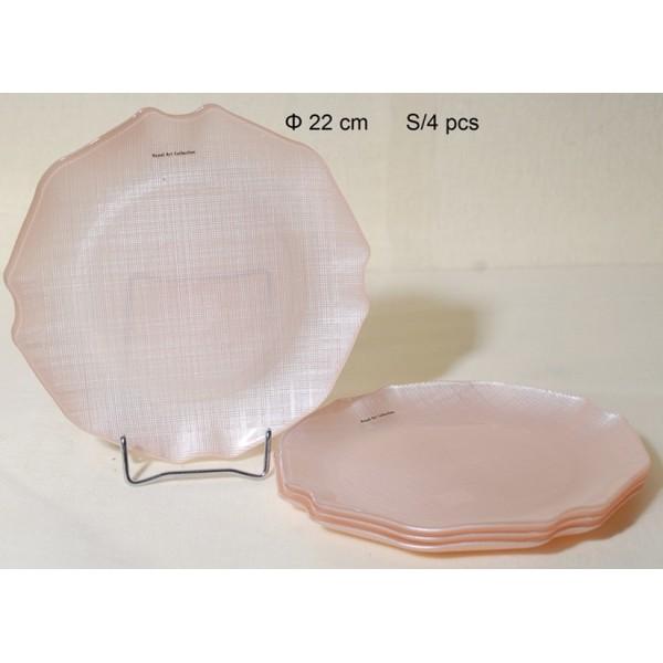 Πιάτα Πάστας Σ/4 Γυάλινα 22cm