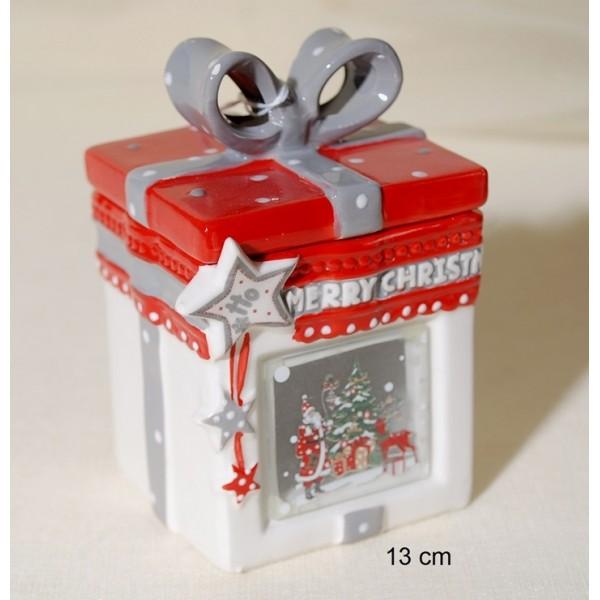 Κουτί Κεραμικό με Φιόγκο 13cm
