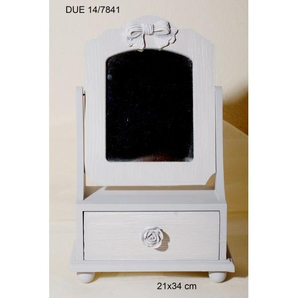 Μπιζουτιέρα Ξύλινη Με Καθρέφτη 21x34cm