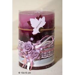 Κερί Αρωματικό Διακοσμημένο 10x15cm Lavender
