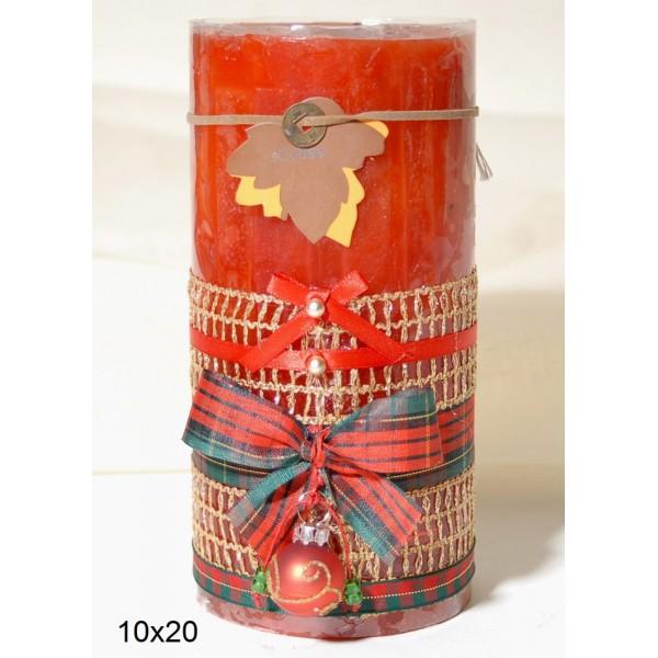 Κερί Διακοσμημένο 10x20cm Coffee