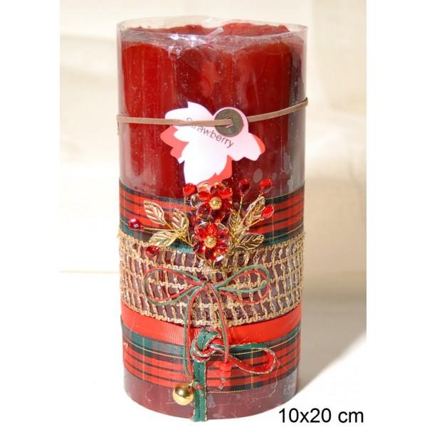 Κερί Διακοσμημένο 10x20cm Strawberry