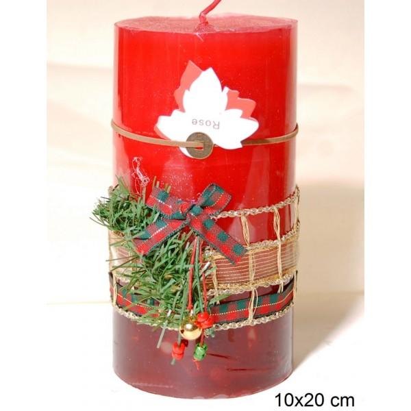 Κερί Διακοσμημένο 10x20cm Rose