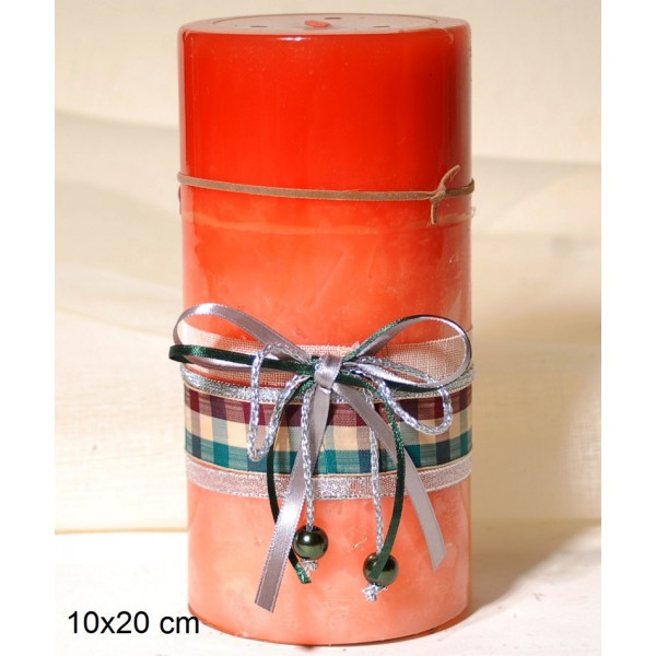 Κερί Διακοσμημένο 10x20cm Papaya