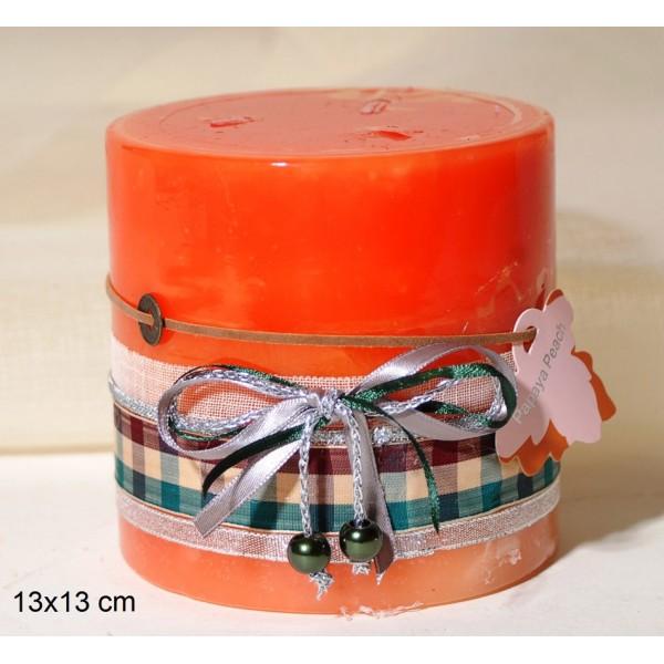 Κερί Διακοσμημένο 13x13cm Papaya