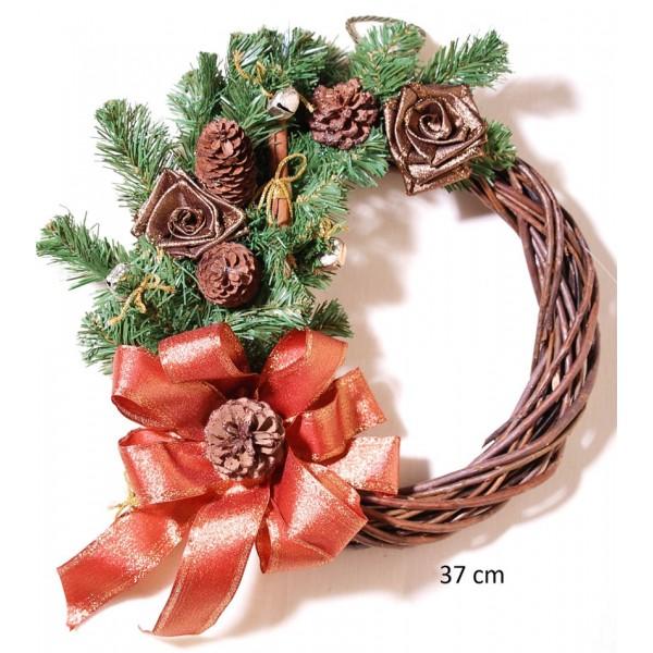 Στεφάνι Χριστουγεννιάτικο Διακοσμημένο 37cm