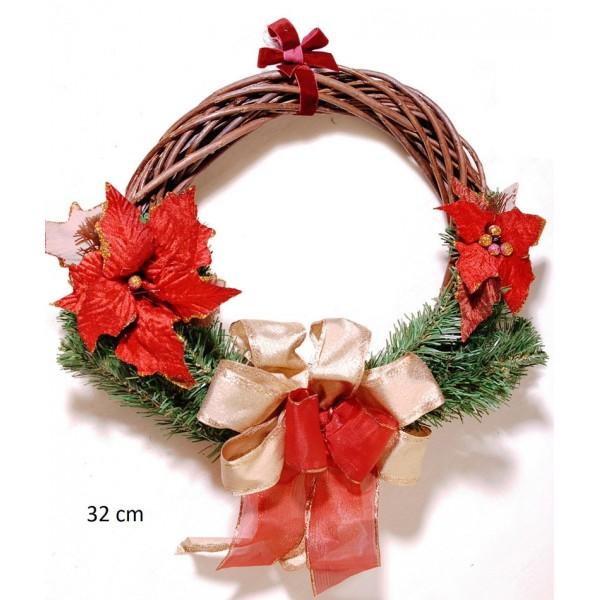 Στεφάνι Χριστουγεννιάτικο Διακοσμημένο 32cm