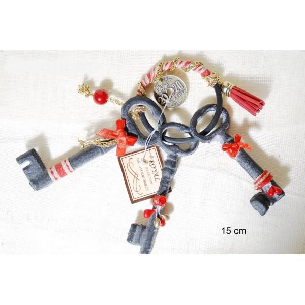 Κλειδί σιδερένιο Vintage περασμένο σε κρίκο
