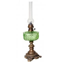 Λάμπα Πετρελαίου Μπρούτζινη Με Γυαλί Πράσινο 1106AGR