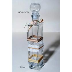 Μπουκάλι Γυάλινο διακοσμημένο