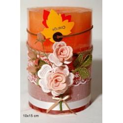 Αρωματικό Κερί με Χειροποίητη Διακόσμηση