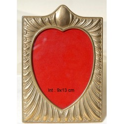 Κορνίζα Καρδιά Νο3 Μπρούτζινη