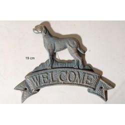 Ταμπέλα Μεταλλική WELCOME Με Σκυλάκι