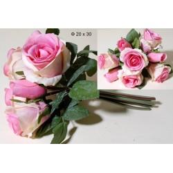Μπουκέτο υφασμάτινο τριαντάφυλλα