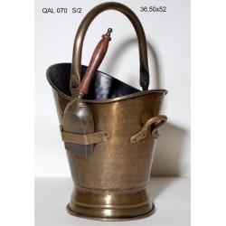 Κουβάς για το τζάκι Antique Bronze