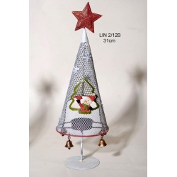 Χριστουγεννιάτικο Μεταλλικό Δενδράκι Ρεσώ